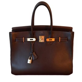 Hermès-Birkin 35-Brown