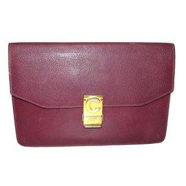 Céline-Clutch bags-Dark red