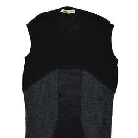 Balenciaga-Robes-Noir,Gris