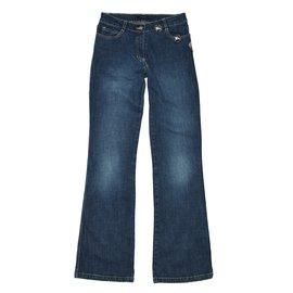 Burberry-Pantalons fille-Bleu