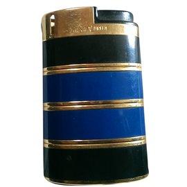 Yves Saint Laurent-Décoration divers-Bleu,Doré