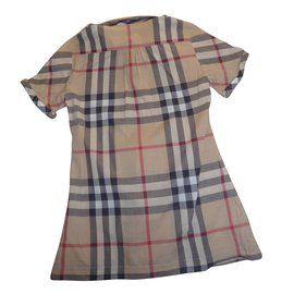 Burberry-Tops Tees-Beige