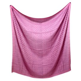 Louis Vuitton-vuitton shawl monogram fucsia-Rose