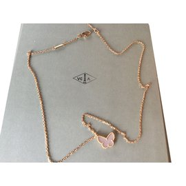 Van Cleef & Arpels-PENDENTIF SWEET ALHAMBRA  PAPILLON-Blanc