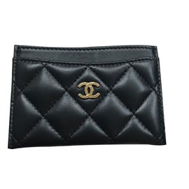 Chanel-Black card case-Black