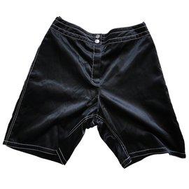 Chanel-Bermuda satin-Noir