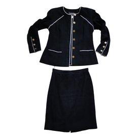 Chanel-Tailleur défilé Croisière 1996-Bleu Marine