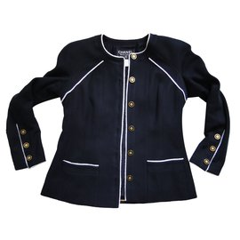 Chanel-Skirt suit-Navy blue
