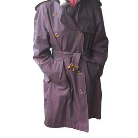 Yves Saint Laurent-Trench-Bordeaux