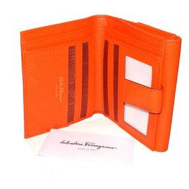 Salvatore Ferragamo-Wallets-Orange