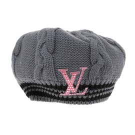Louis Vuitton-beret-Gris