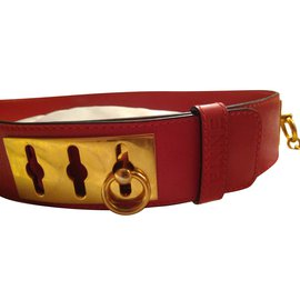 Céline-Belts-Red
