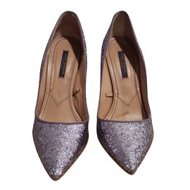 Marques Chaussure luxe femme MAURICE manufacture femme Seb Metal argent