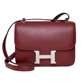 Hermès-Constance 24-Dark red