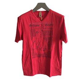 John Galliano-Tee shirts-Rouge