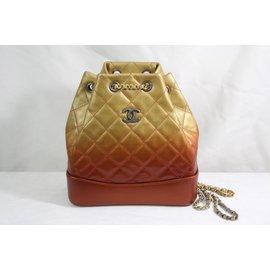 Chanel-Backpacks-Golden