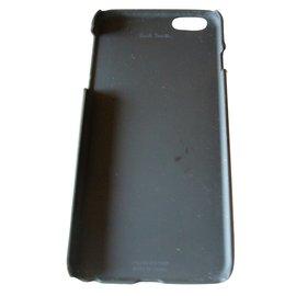 Paul Smith-Coque Pour iPhone 6 Plus 'Signature Stripe' En Cuir-Multicolore