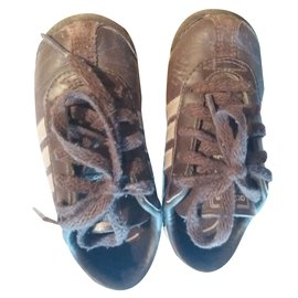Adidas-Baskets enfant-Marron foncé