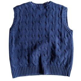 Polo Ralph Lauren-Pulls, gilets garçon-Bleu,Bleu Marine