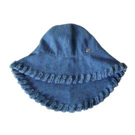 Chanel-chapeau capeline en Jean's Chanel Neuve-Bleu