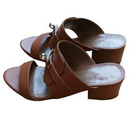Hermès-Sandales Hermès-Caramel