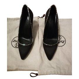 Hermès-Escarpins Hermès taille 36-Noir