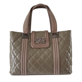Chanel-Handbags-Taupe