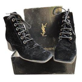 Yves Saint Laurent-Bottines-Noir