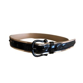 Burberry-Belts-Black