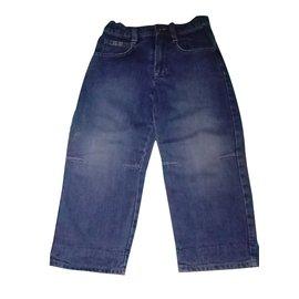 Burberry-Pantalons garçon-Bleu