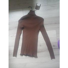 Louis Vuitton-Pulls, Gilets-Marron