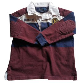 Polo Ralph Lauren-Tops Tees-White,Dark brown,Navy blue