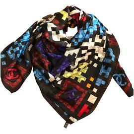 Chanel-Silk scarves-Black