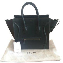 Céline-Céline Luggage Mini-Vert
