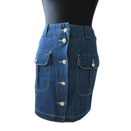 Gap-Skirts-White,Blue