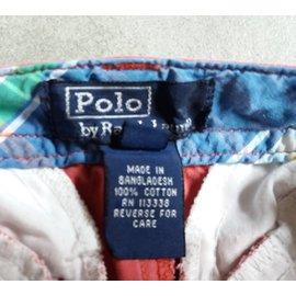 Polo Ralph Lauren-Shorts garçon-Bordeaux