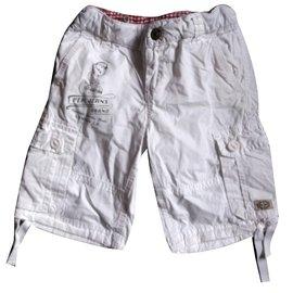 Pepe Jeans-Shorts garçon-Blanc