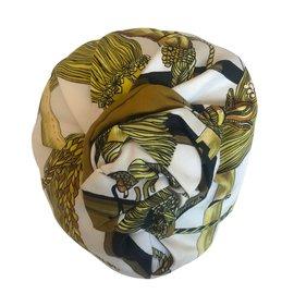 Hermès-Hats-White,Golden