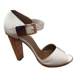 """Hermès-Sandales """"EMBLEME""""-Blanc"""