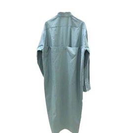 Céline-Asymmetrical blouse dresss-Blue