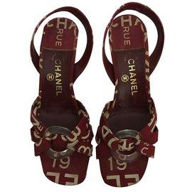Chanel-Heels-Dark red