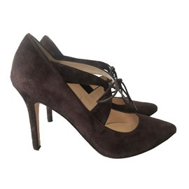 Marques Chaussure luxe femme L.K. Bennett femme CAMILLE SUEDE - BLACK