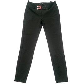 Elisabetta Franchi-Pantalons-Noir