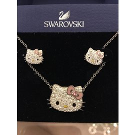 Swarovski-Collier hello kitty-Argenté,Doré
