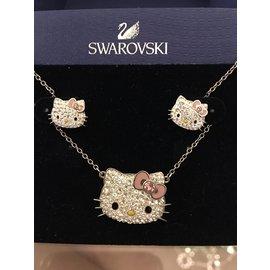 Swarovski-Collier hello kitty-Argenté,Doré