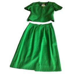 Céline-Skirt suit-Green