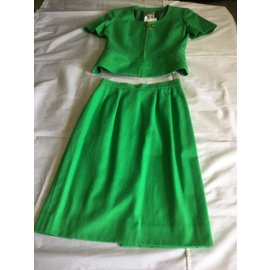 Céline-Tailleur jupe-Vert
