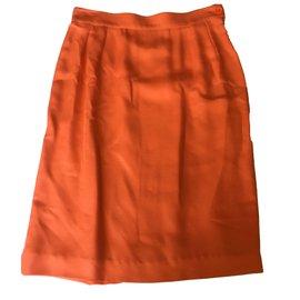 Yves Saint Laurent-Skirt suit-Coral