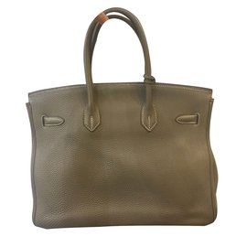 Hermès-Birkin 35 Etoupe-Beige
