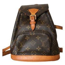 Louis Vuitton-Sacs à dos-Marron,Doré